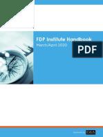 FDP Candidate Handbook March-April 2020 Exam