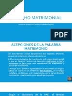 DERECHO MATRIMONIAL 2