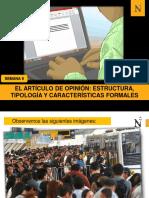 S9- El artículo de opinión, estructura, tipología, caracterísiticas