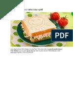 Receta de Sandwich de pollo, lechuga y salsa rosa o golf