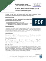 NFPA 1521 Descriptor Curso