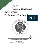 NFPA 1521 Skill test