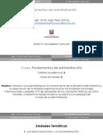Sesión 0 - Microdiseño Fundamentos de Administración