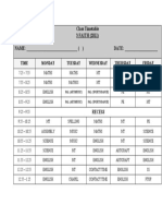 Class Timetable 2011