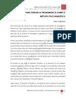 ELEMENTOS PARA PENSAR EL METODO PSICOANALITICO