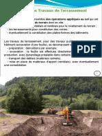 Chapitre III  VRD 2017-2018 - les Travaux de  terrassement