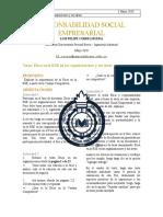 Ética en La RSE en Sus Organizaciones y Sus Áreas