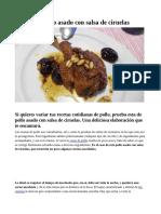 Receta de Pollo asado con salsa de ciruelas