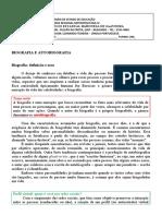 Biografia e autobiografia (Módulo III) - Língua Portuguesa