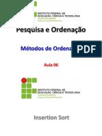 PO (Ordenação - Insertion e Shell Sort)