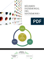 RÉGIMEN PATRIMONIAL DEL MATRIMONIO (1)