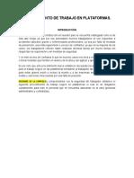 PROCEDIMIENTO DE TRABAJO EN PLATAFORMAS