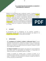PROCEDIMIENTO PARA LA INVESTIGACIÓN DE ACCIDENTES Y ENFERMEDADES LABORALES.doc