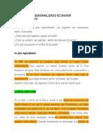 ECUADOR REGIONALIZADO