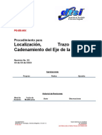 PO-ES-00X Localizacion, Trazo y Cadenamiento Del Eje de La Tuberia