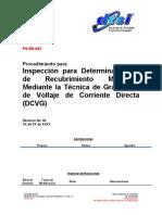 PO-ES-00X Inspeccion Para Determinar Fallas de Recubrimiento Mecanico Mediante DCVG