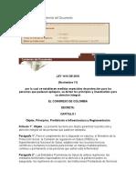 Ley 1414 de 2010