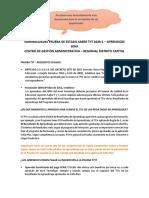 Aclaraciones Prueba de Estado TyT 2020-1