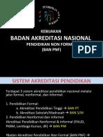Presentasi Kebijakan BAN PNF 2010