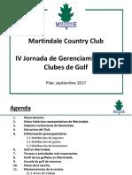 Presentación Martindale IV Jornada de Gerenciamiento de Clubes de Golf