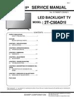 Service Manual tv sharp led aquos 50 inch pdf