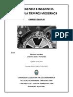 ACCIDENTES E INCIDENTES PELICULA - TIEMPOS MODERNOS-