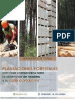 LINEAMIENTOS POLÍTICA PLANTACIONES FORESTALES 2016