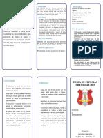 TRIPTICO FERIA DE CIENCIAS