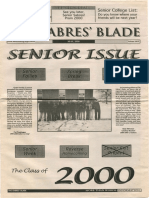 The Sabres' Blade | May 2000