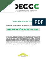 Regulacion del cannabis por la paz
