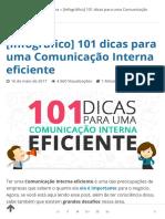 101 dicas para uma Comunicação Interna eficiente [Infográfico] - Cultura Colaborativa