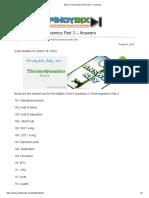 MCQ in Thermodynamics Part 3