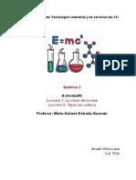 Actividad#2 (Lección 7 y 8) Química