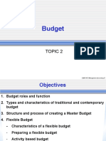 a181 Bkam3023 Topic 2 - Master Budget Flexible Budget