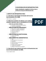 FICHA DE RECOJO DE INFORMACIÓN DE INFRAESTRUCTURA