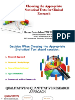 Choosing the Appropriate Statistical Test for Clinical Research