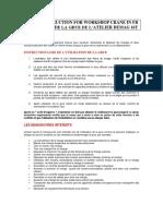 DEMAG CRANE UTILISATION FRENCH