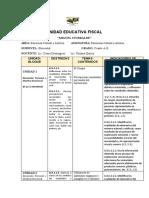 INDICADORES DE EVALUACION  DE  EDUCACION CULLTURAL Y ARTISTICA