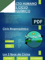 EL IMPACTO HUMANO SOBRE EL CICLO BIOGEOQUÍMICO- ppt