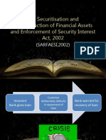 The Securitisation and Reconstruction of Financial Assets and (2)