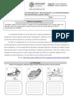 GUIA DE CIENCIAS 5° agua  actividad humana n°3 carta