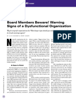 Warning Signs of a Dysfunctional Organization