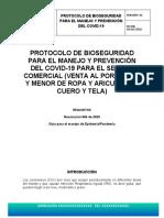 3. PROTOCOLO DE BIOSEGURIDAD- LOCAL VENTA DE ROPA Y TEXTILES- 21-05-2020
