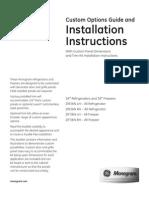 GE Monogram Refrigerator Installation Instructions