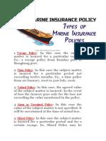 types of marine policies
