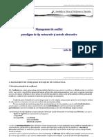 Curs management conflict ADR -JR  Iasi 2020 a