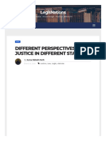 Different Perspectives of Justice in Different Statutes