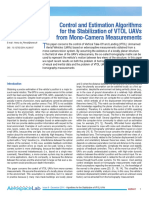 camera stabalization mesurements for vtol