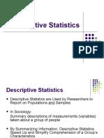 Decsriptive Statistics