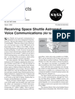 NASA Facts Receiving Space Shuttle Astronaut Voice Communications (Air to Ground)
